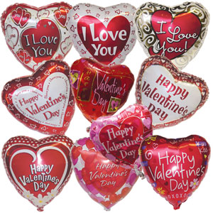 Valentineu0027s Day Mylar Balloon Assorted
