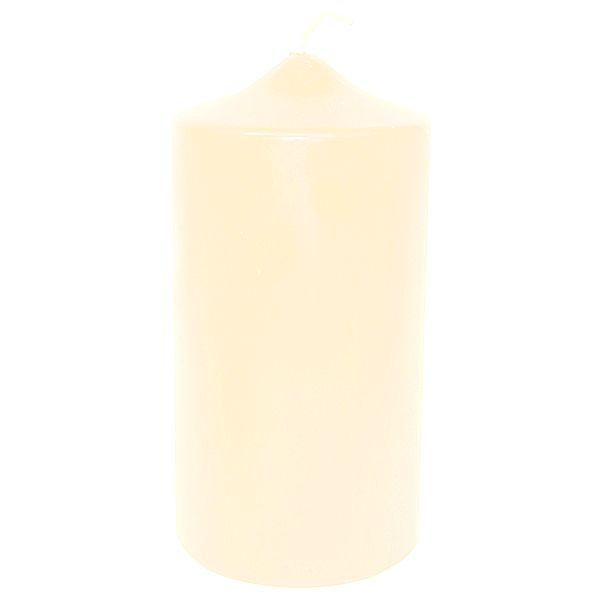 2.8 in. x 6 in. Ivory Bulk Unwrapped Pillar Candles Candles Ivory Event Pack