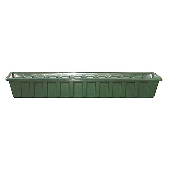 36 in. Green Plastic Window Box