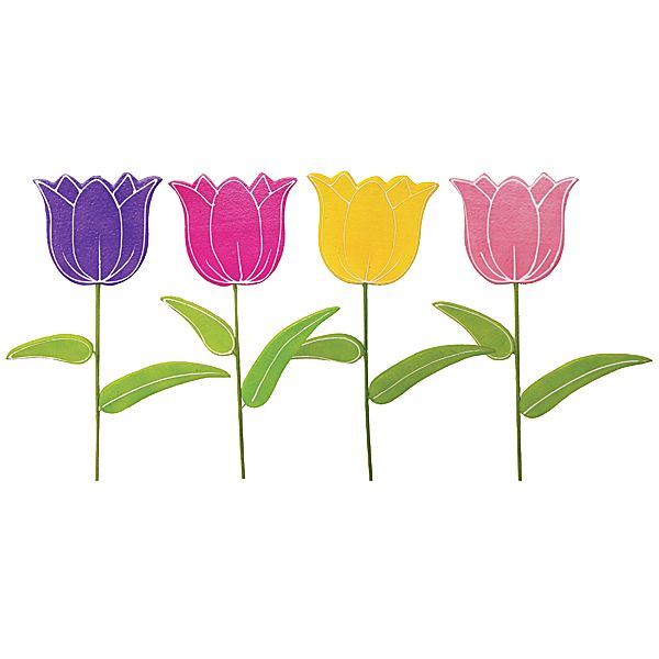 37 in. Assorted Color Display Tulips with 10.5 in. x 9.5 in. Heads