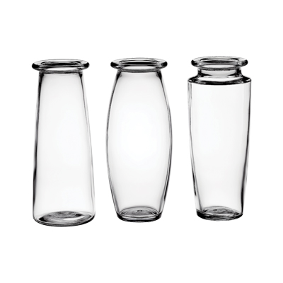 9 in. Crystal Trio Vase Assortment