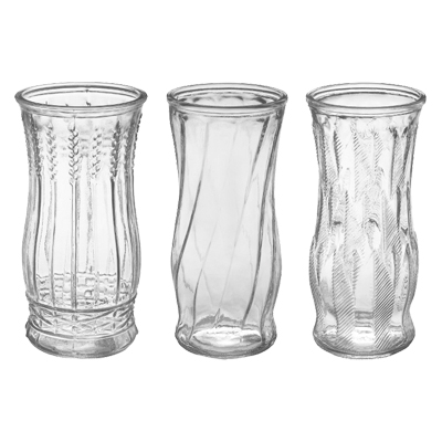 9 3/8 in. x 4.5 in. Crystal Rose Vase Assorted
