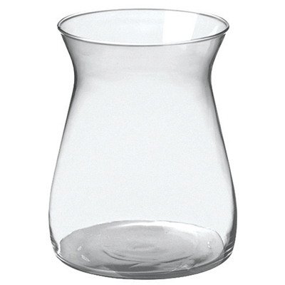 8in Cinched Hurricane Vase Crystal Flower Vases