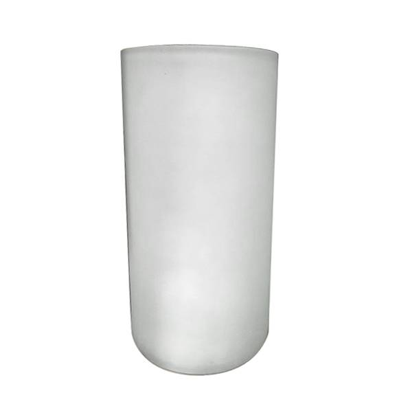 10in White Frosted Round Cylinder Vase Cylinder Vases