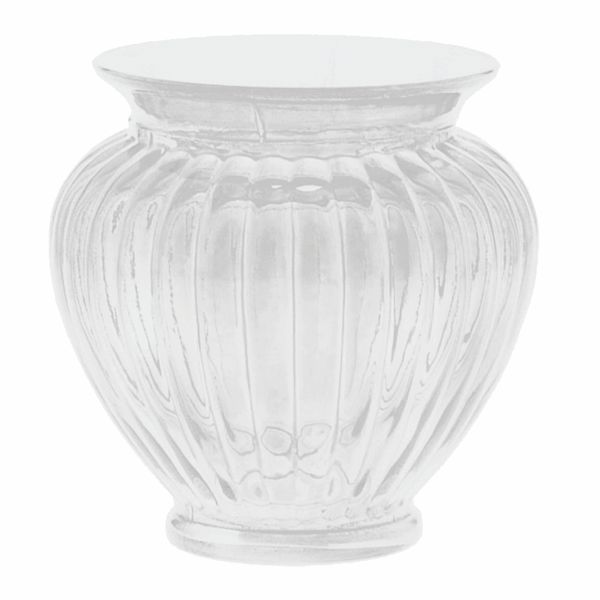 4in Clear Ribbed Glass Vase Ribbed Vases