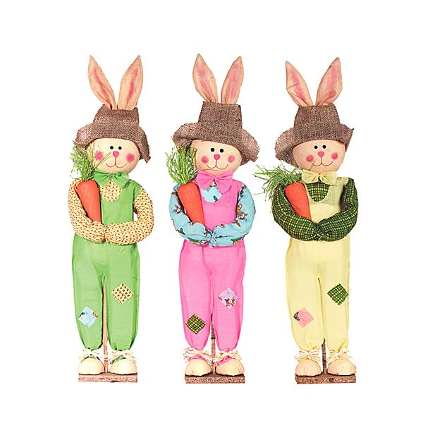 28 in. Standing Cloth Easter Bunny