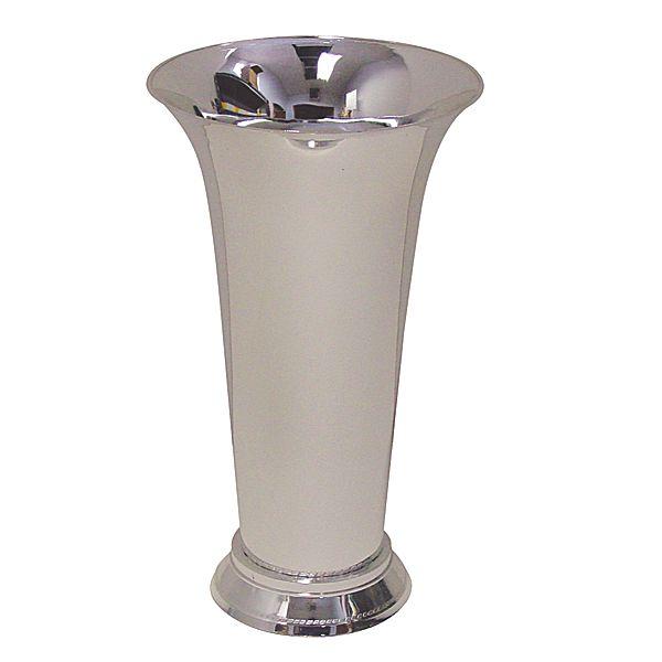 13in Silver Trumpet Vase Plastic Flower Vases
