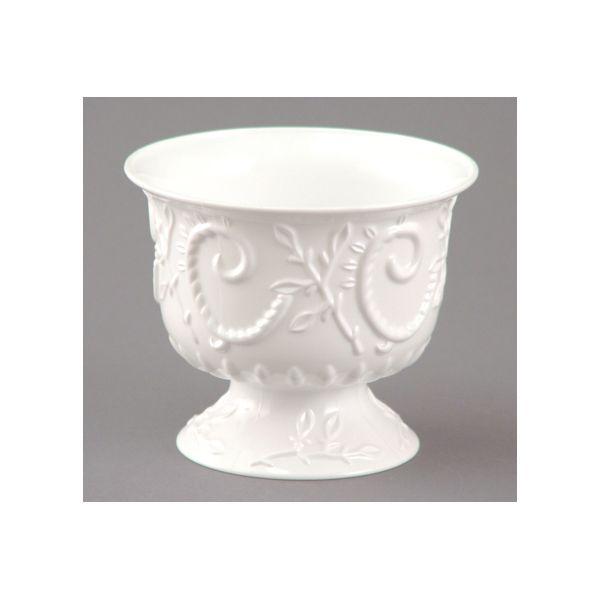 Large Plastic Pedestal Bowl White Plastic Flower Bowls