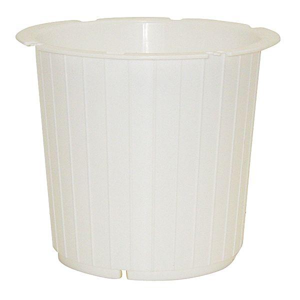 7in x 7in round white plastic pot plastic flower pots op round white plastic pot mightylinksfo