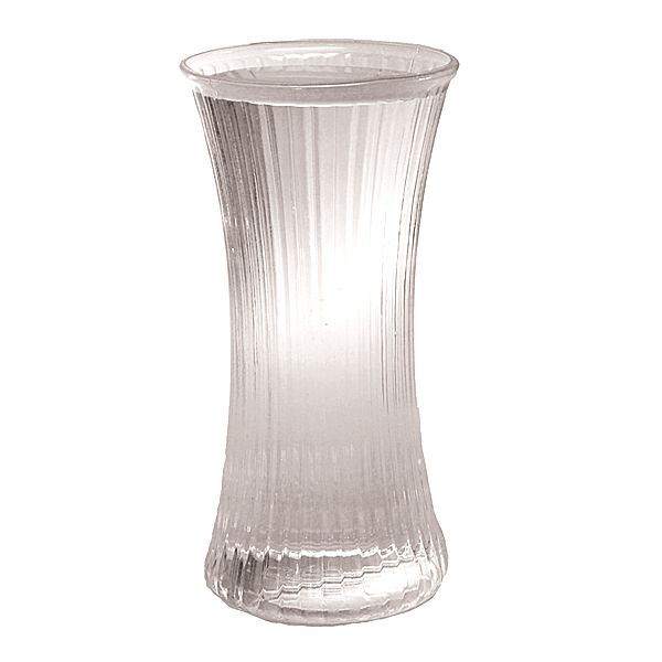 10 in. H. x 5 in. Op., Poly-Glass Crystal Bunch Vase
