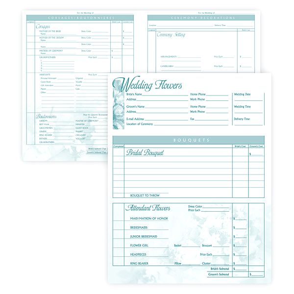 #167 Deluxe Wedding Order Pad