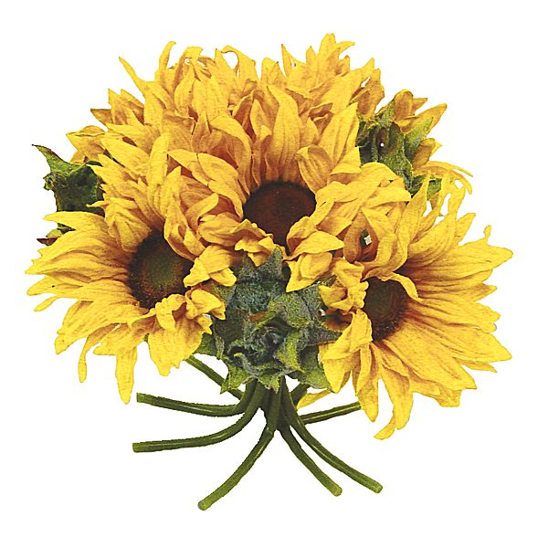 10 in. Yellow Sunflower Bouquet x11
