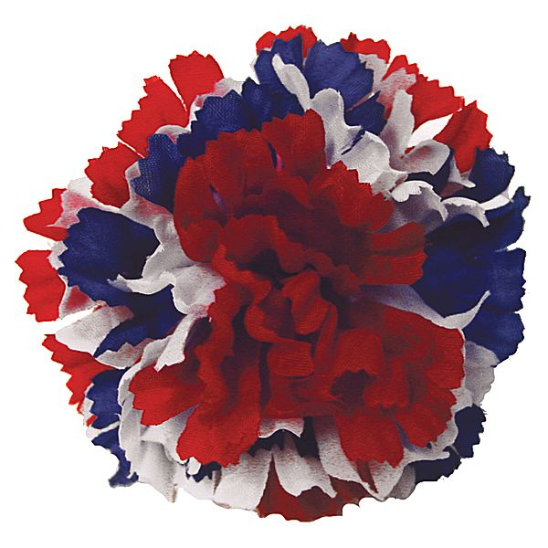 Red/White/Blue Silk Carnation Pick
