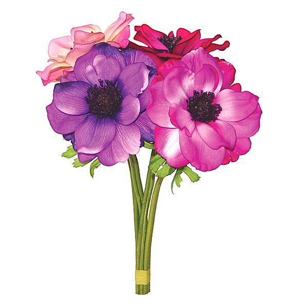 13 in. Anemone Stem Assorted
