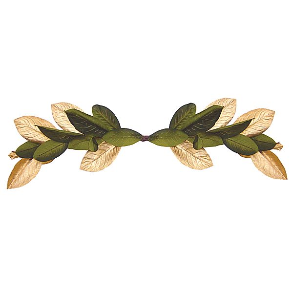 Gold/Green Magnolia Leaves Swag