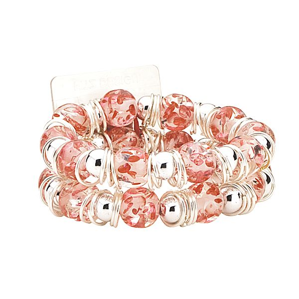 Raz-Ma-Tazz Pink Cotton Candy Flower Bracelet  - SAVE - 50% Off...while supplies last!
