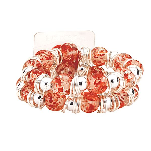 Raz-Ma-Tazz Red Ruby Flower Bracelet  - SAVE - 50% Off...while supplies last!
