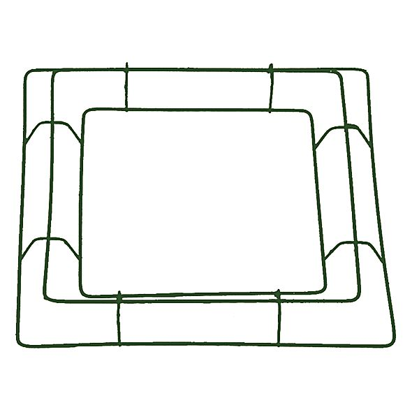 12in Square Box Wreath Frame - Wire Frames and Saddles
