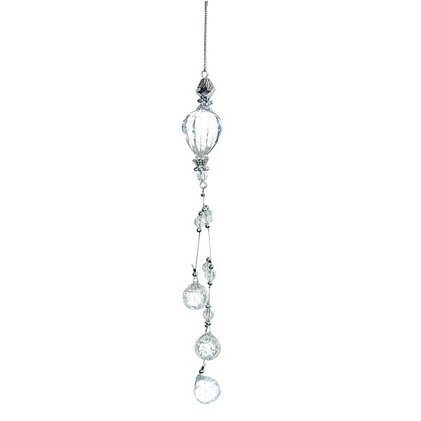 9in Acrylic Crystal Teardrop Ornament with Wired Hanging Crystal ...