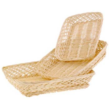 Bleached Willow Rectangle 14 in. Tray