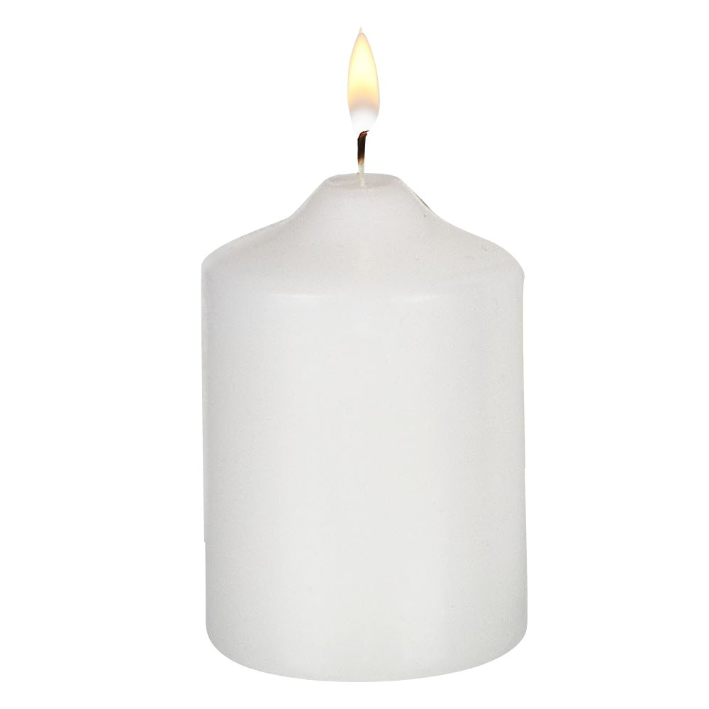 2 in. x 3 in. Bulk Unwrapped Pillar Candles White Event Pack