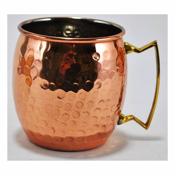 3 in. D. x 4 in. H. Copper/Brass Moscow Mule Cup w/Handle