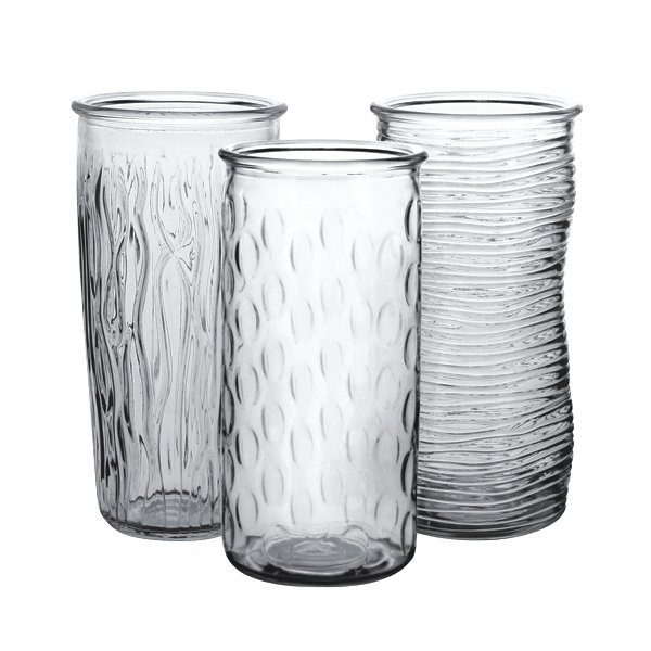 9.75 in. Rose Vase Crystal Assorted