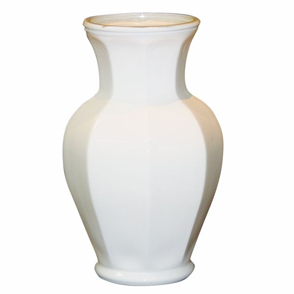 11 In X 350 In Dia Everyday Classic Octagonia White Urn Garden