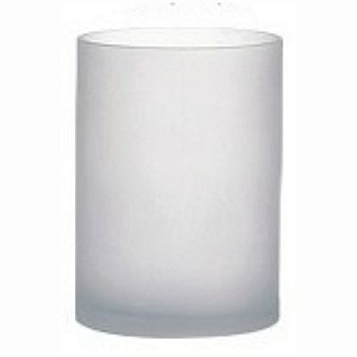4 In H X 4 In O Round Frosted Glass Cylinder Vase Floral Vases