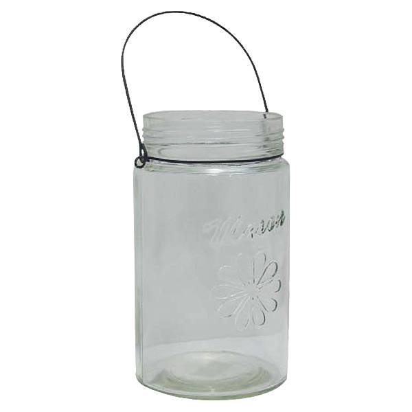 Clear Mason Jar Wire Handle - Floral Vases