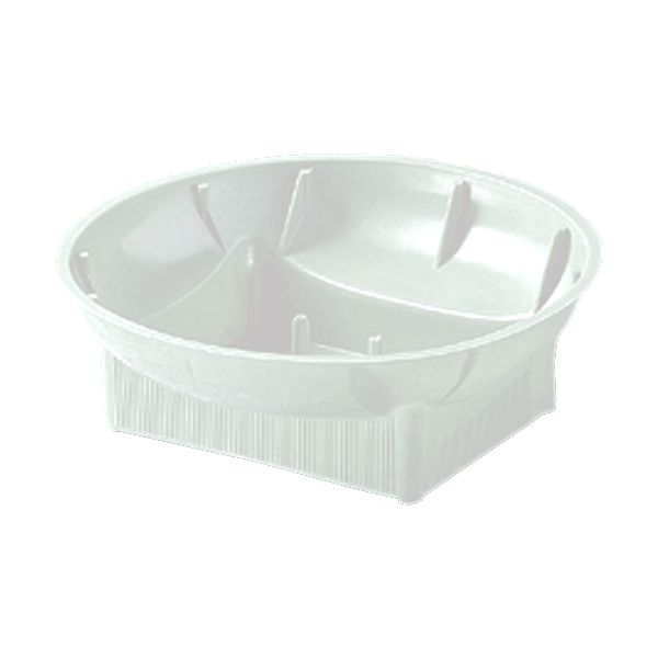 #73 - 6 in. White Plastic Round Design Bowl