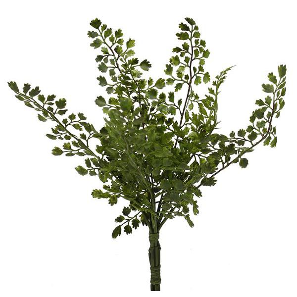 14 in. Poly Maiden Hair Fern Bush