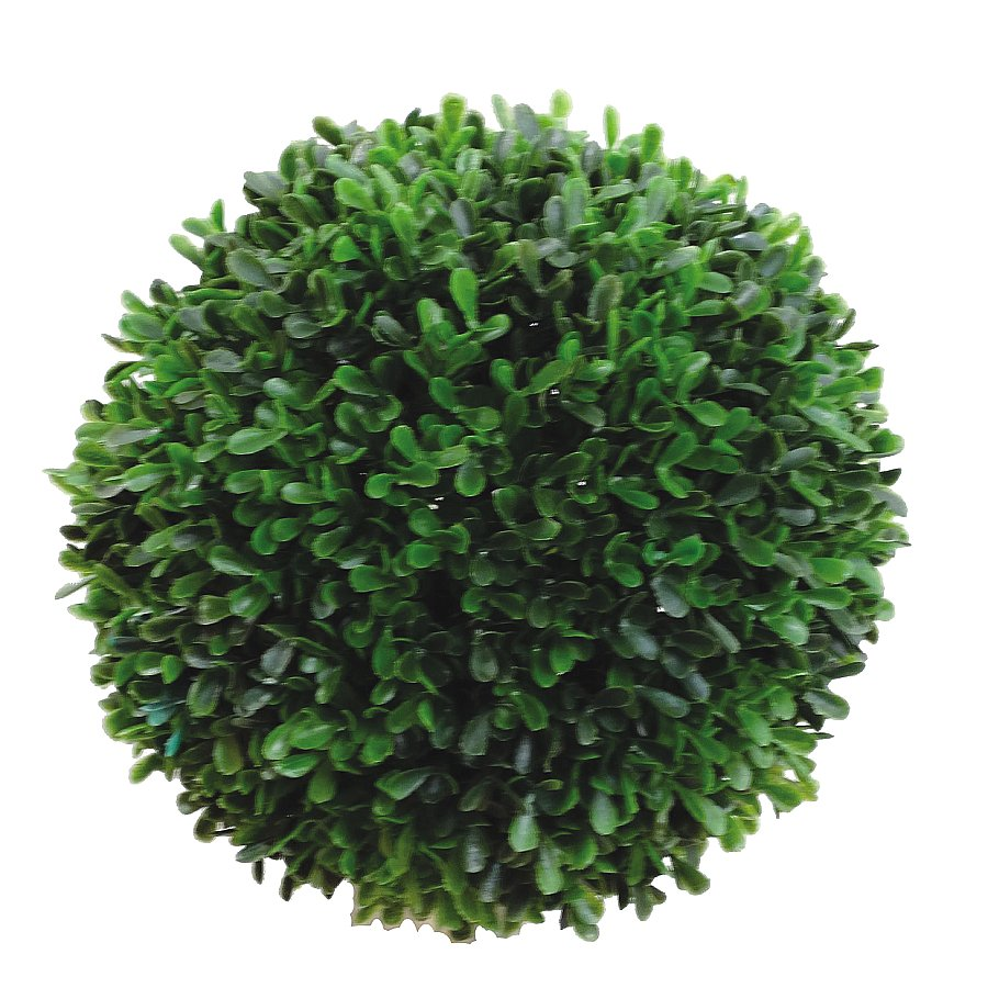 12 in. Dia. Round Poly Boxwood Ball