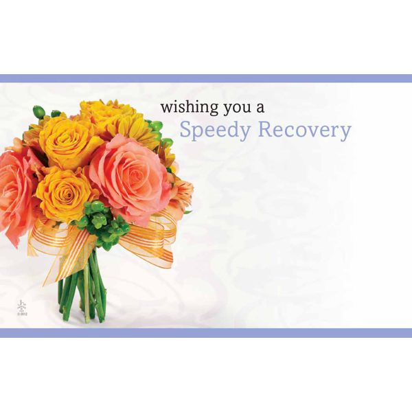 Wishing You A Speedy Recovery W Pink Orange Roses Get Well Floral Cards