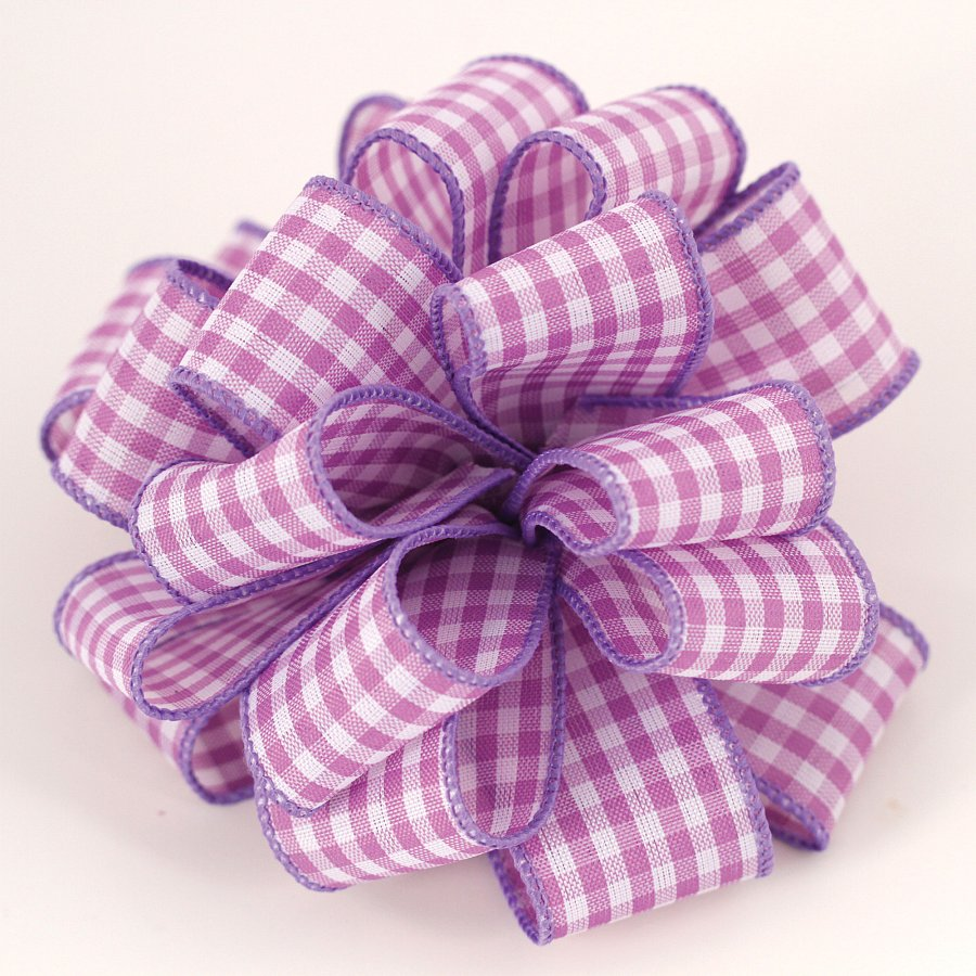 #9 Wired Picnic Basket Lavender Ribbon 50 Yards