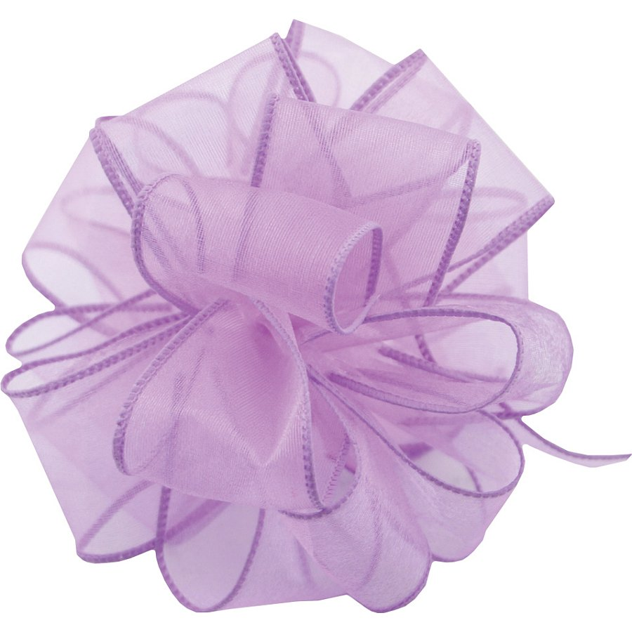 #9 Wired Sheer Spring Lavender Ribbon (50 Yds)
