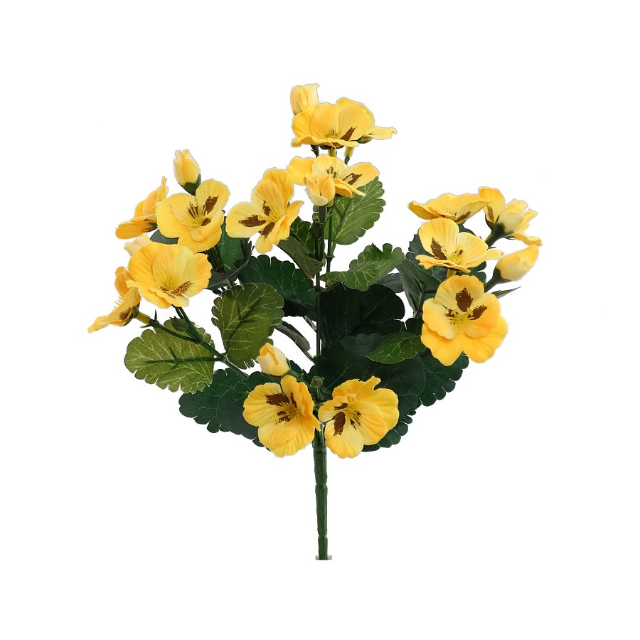 11.5 in. Yellow Pansy Bush x 7