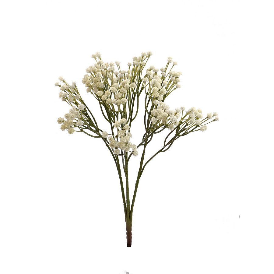 15 in. Life-Like Baby's Breath Bush x4 Cream