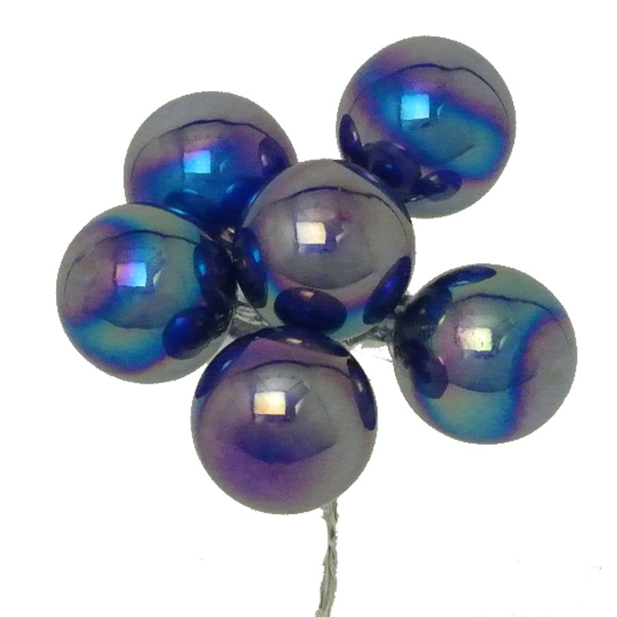 25 mm. Midnight Iridescent Glass Balls 1/Gr