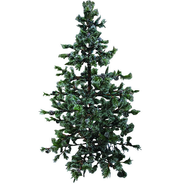 "7.5 ft. Flocked Katadin Pine Tree W/405 Tips - Natural Branch ""Open Branch Look"""