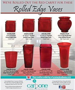 Rolled Edge Vases